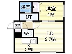 グランパーク札幌北[501号室]の間取り