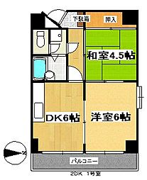 ランドマーク支倉[6階]の間取り