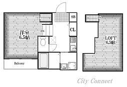 Villa Clelia[2階]の間取り