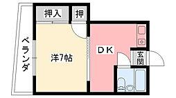 兵庫県西宮市深津町の賃貸マンションの間取り