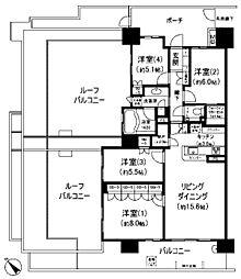 神奈川県川崎市麻生区万福寺3丁目の賃貸マンションの間取り