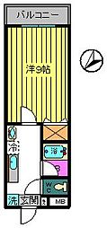 東京都八王子市高尾町の賃貸マンションの間取り