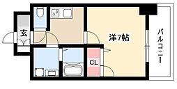 エスリード大須観音プリモ 5階1Kの間取り