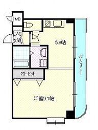 北海道札幌市豊平区西岡四条4丁目の賃貸マンションの間取り