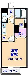 千葉県船橋市葛飾町2の賃貸アパートの間取り