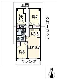 グラン・アベニュー富船[3階]の間取り