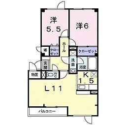 北海道札幌市東区伏古一条5丁目の賃貸アパートの間取り