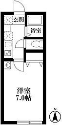 JR総武線 阿佐ヶ谷駅 徒歩10分の賃貸アパート 1階1Kの間取り