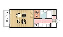第一須田ハイツ[207号室]の間取り