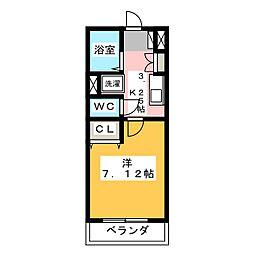 フローラル321[2階]の間取り