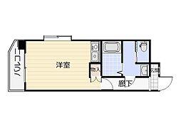 オリエンタル三萩野[1階]の間取り