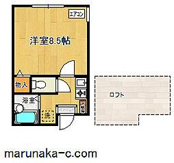 ラ・シャンス東橋本第3 2号棟[203号室]の間取り
