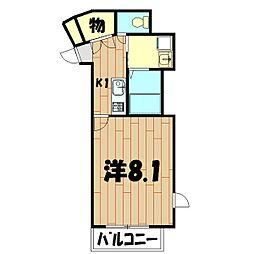 サンブリエ[3階]の間取り