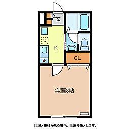 メゾン・ド・駒沢 1階1Kの間取り