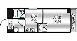 ジオナ松屋町[3階]の間取り