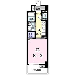 ラインスター三萩野[3階]の間取り
