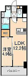東京都台東区橋場1丁目の賃貸マンションの間取り