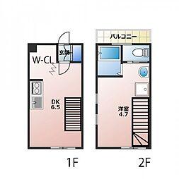 キャリコハウス2[211号室]の間取り