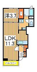 エターナル グレイスB[1階]の間取り