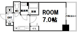 Osaka Metro中央線 九条駅 徒歩7分の賃貸マンション 13階1Kの間取り