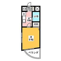 シティヴィラ植田[5階]の間取り