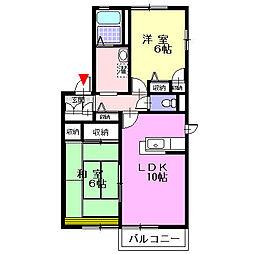 神奈川県足柄上郡大井町上大井の賃貸アパートの間取り