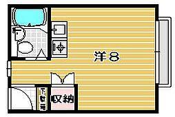 大阪府茨木市若草町の賃貸マンションの間取り