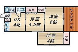 第2上田文化[105号室]の間取り
