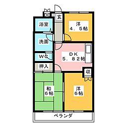 エクシードB棟[1階]の間取り