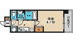プレサンス梅田北ザライブ[3階]の間取り