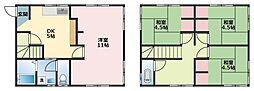 [一戸建] 神奈川県横浜市鶴見区下末吉2丁目 の賃貸【/】の間取り