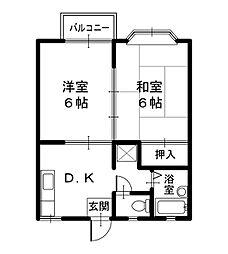 豊岡市幸町 ライフィットコートII[2階]の間取り