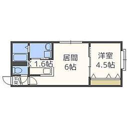 北海道札幌市東区北二十条東19丁目の賃貸アパートの間取り