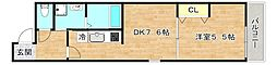 Osaka Metro谷町線 太子橋今市駅 徒歩7分の賃貸マンション 3階1DKの間取り