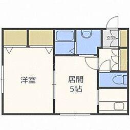 北海道札幌市東区北二十条東12丁目の賃貸マンションの間取り