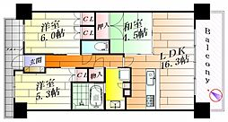 ローレルスクエア健都ザ・レジデンス 1stステージ[9階]の間取り