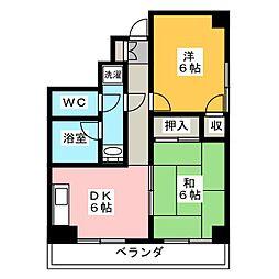 メゾン焼津[3階]の間取り