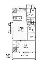 東京メトロ千代田線 千駄木駅 徒歩2分の賃貸マンション 8階1LDKの間取り