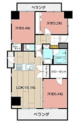 THE SQUARE・Suite Residence[608号室]の間取り