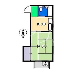 サンコーポ(上町)[3階]の間取り