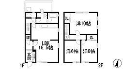 [テラスハウス] 兵庫県西宮市仁川町5丁目 の賃貸【/】の間取り