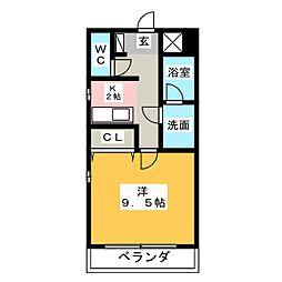 エルム塩付[2階]の間取り