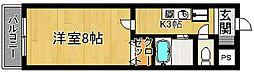 奈良県奈良市大宮町4丁目の賃貸マンションの間取り