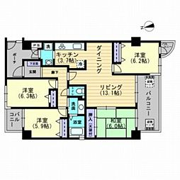 サーパス富田[3階]の間取り