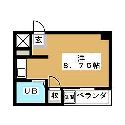 エバマン[5階]の間取り