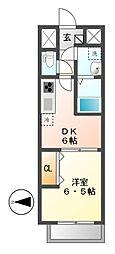 メイボーテセラ(MEIBOU TESERA)[2階]の間取り