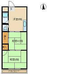兵庫県尼崎市長洲中通1丁目の賃貸マンションの間取り