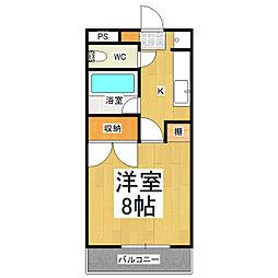 グランティス小松[2階]の間取り