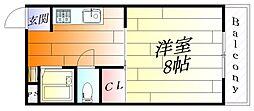 シャトー5[4階]の間取り
