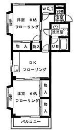 ウエルス宮原ハウス[3階]の間取り